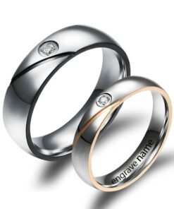 Stainless Steel Cross Couple Rings