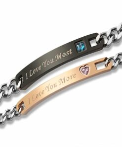 I Love You More I Love You Most Bracelets [Set of 2]