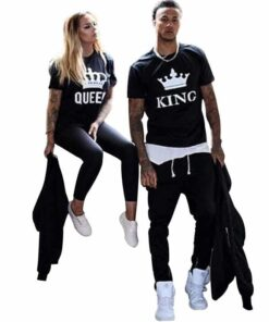 King Queen Matching Couple Shirts