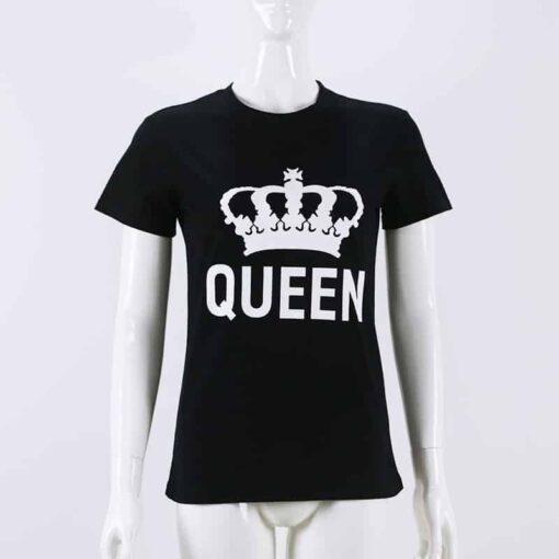 King Queen Matching Couple Shirts