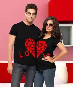 Matching Couple Love Heart Shirts