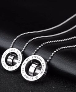 Our Love Will Last Forever, Loving You Is My Eternal Promise Necklaces