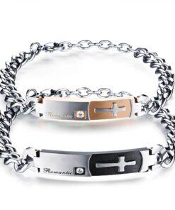 Stainless Steel Romantic Cross Bracelets