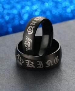King and Queen Wedding Band Set Ring